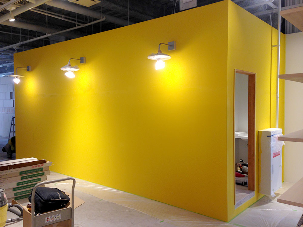 コワーキングスペース 未来会議室様 アイデアペイント塗装プロジェクト