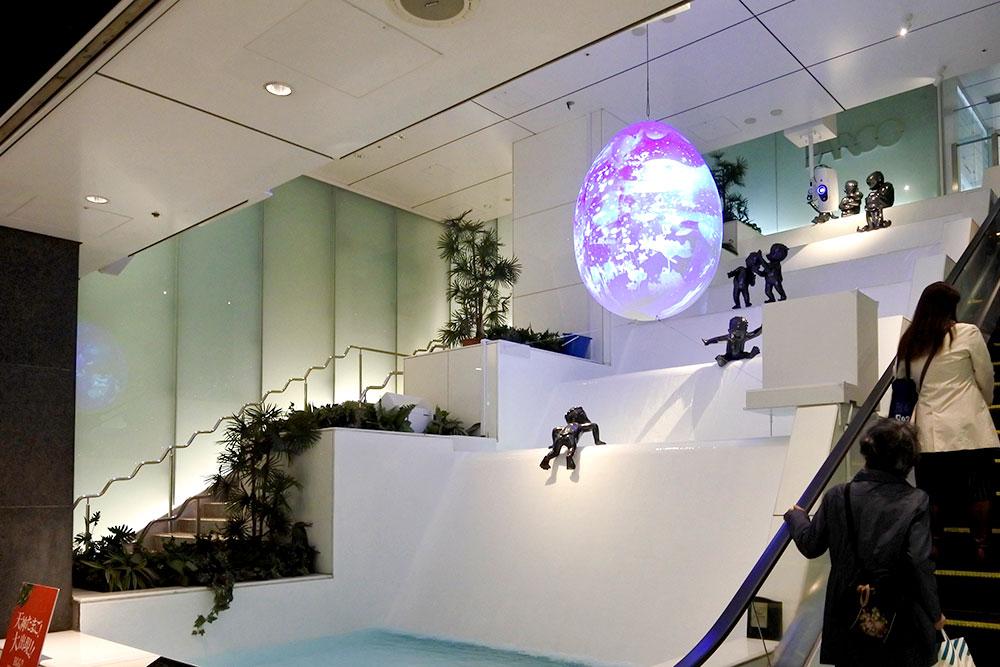 天神かっぱの泉タマゴ型オブジェ製作設置工事